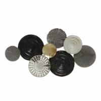 Saltoro Sherpi Contemporary Style Metal Wall D?cor with Disc Pattern, Multicolor - 1 unit