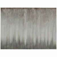 Saltoro Sherpi Wood and Canvas Abstract Wall Art, Silver and Gray - 1 unit