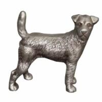 Aluminum Dog Statuette Table Accent Decor