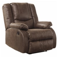 Saltoro Sherpi Wooden Zero Wall Recliner with Pillow Top Arms and Tufted Back, Brown - 1 unit