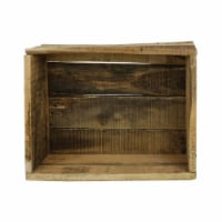 Saltoro Sherpi Reclaimed Wood Crate with Open Storage Space, Natural Brown - 1 unit