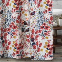 Saltoro Sherpi Polyester Shower Curtain with Floral Prints, Multicolor - 1 unit