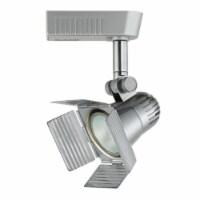 Saltoro Sherpi Spotlight Design Rotational Track Head with 4 Leaf Door Flippers, Silver - 1 unit