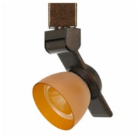 Saltoro Sherpi 12W Integrated LED Track Fixture with Polycarbonate Head, Bronze and Orange - 1 unit