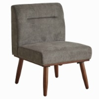Saltoro Sherpi Upholstered 1 Seater Sofa with Splayed Legs and Padded Seat, Gray and Brown - 1 unit