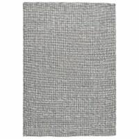 Saltoro Sherpi 84 x 60 Hand Woven Woolen Rug with Textured Details, Medium, Gray - 1 unit