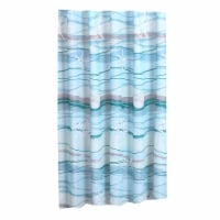 Saltoro Sherpi Maritsa 72 x 72 Inches Polyester Shower Curtain with Seashell and Coral Print, - 1 unit