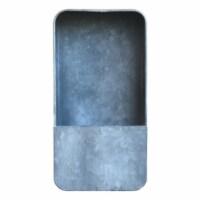 Saltoro Sherpi Rectangular Metal Wall Planter with Keyhole Hanger, Small, Galvanized Gray - 1 unit