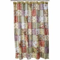 Saltoro Sherpi Eiger Fabric Shower Curtain with Jacobean Prints, Multicolor - 1 unit