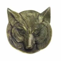 Saltoro Sherpi Metal Frame Fox Shaped Dish, Antique Brass - 1 unit