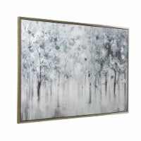 Saltoro Sherpi Gallery Wrapped Wall Art with Handpainted Landscape Design, Blue - 1 unit