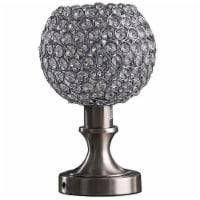 Saltoro Sherpi Acrylic Bead Globe Table lamp with Metal Base, Silver - 1 unit