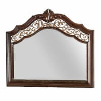 Molded Wooden Frame Mirror with Ornate Detailing, Brown By Casagear Home - 1