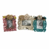 Resin Photo Frame with Scrolled Details, Set of 3, Multicolor - 1