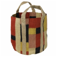 Tote Bag with Geometric Print, Multicolor - 1