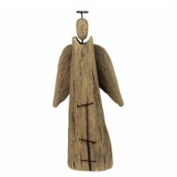 24 Inch Wooden Angel Accent D�cor, Set of 4, Brown - 1