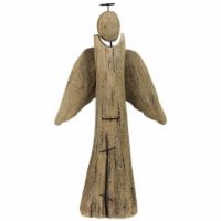 36 Inch Wooden Angel Accent D�cor, Set of 2, Brown - 1