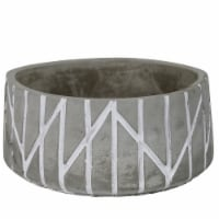 Bowl with Round Embossed Cement Body, Set of 4, Gray - 1