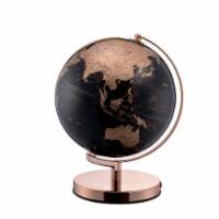 Globe Accent Decor with Inbuilt LED, Black and Rose Gold - 1