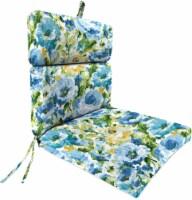 Jordan Manufacturing French Edge Chair Cushion - Lessandra Sunblue