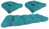 Jordan Manufacturing Wicker Settee Cushion Set - Husk Texture Lagoon