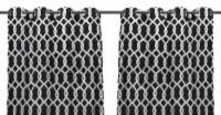 Jordan Manufacturing Outdoor Curtain Panel - 2 Pack - Cayo Black