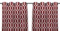 Jordan Manufacturing Outdoor Curtain Panels - 2 Pack - Cayo Pompeii