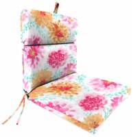 Jordan Manufacturing Gardenia Bloom Outdoor French Edge Dining Chair Cushion - 1 ct
