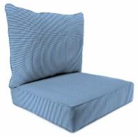 Jordan Manufacturing Dawson Lapis Outdoor Deep Seat Chair Cushion - 2 pc