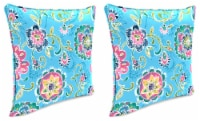 Jordan Manufacturing Fanfare Island Outdoor Accessory Throw Pillows with Welt - 2 Pack