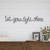 Metal Cutout- Let Your Light Shine Cursive Sign-3D Word Art Home Accent Decor