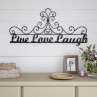 Metal Cutout-Live Laugh Love Decorative Wall Sign-3D Word Art Home Accent Decor-Modern Rustic - 1 unit