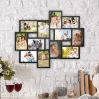 Collage Picture Frame Holds 12 Images Wall Hanging Multiple Photos 4 x 6 - 1 unit