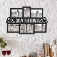 Collage Picture Frame Holds 7 Images Wall Hanging Multiple Family Photos - 1 unit
