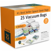25 PK Vacuum Storage Bags for Closet Space Saving - 1 unit