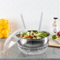 Classic Cuisine 82-KIT1079 Salad Bowl with Lid & Utensils - 5 Piece - 1
