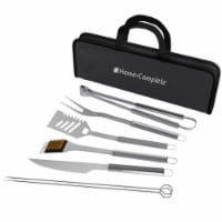 Home-Complete HC-1004 Stainless Steel Barbecue Grilling Accessories with 7 Utensils & Carryin - 1