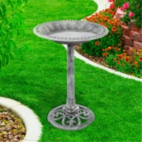 Pure Garden 50-LG1073 Antique Bird Bath - Grey