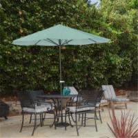Pure Garden 50-LG1041 Patio Umbrella Outdoor Shade with Easy Crank, Dusty Green - 10 ft.