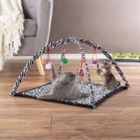 Cat Activity Center- Interactive Play Area Station for Cats, Kittens With Fleece Mat, Hanging - 1 unit