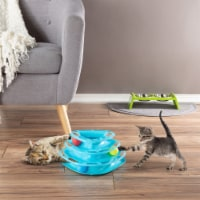 Interactive Cat Toy Ball Roller Tower- 3 Level Tiered Triangle Track with Rolling Balls for - 1 unit