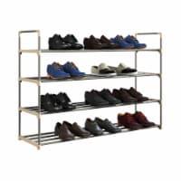 Shoe Rack Storage Shelf 4 Shelves Hallway Entryway Holds 24 Pairs 40 Inches Long - 1 unit
