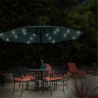 Pure Garden 50-LG1176 Patio Umbrella Deck Shade with Solar Powered LED Lights - Hunter Green - 1