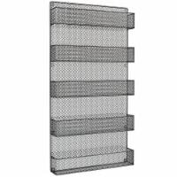Spice Rack Organizer Metal Space Saving Wall Mount 5 Tier Storage Shelves for Kitchen, - 1 unit