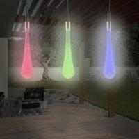 String Lights  Set of 2 Solar Power Outdoor LED Decor Tear Drop Lighting 30 Colorful Bulbs - 1 unit