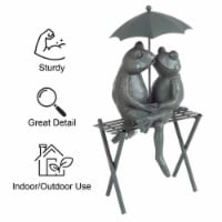 Garden Decor Statue Frog Couple on Bench Romantic Kissing Frogs Flower Bed - 1 unit