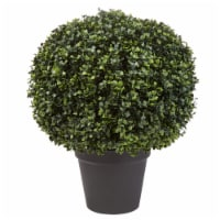 Faux Boxwood Realistic Plastic Decorative Topiary Arrangement and Weighted Pot - 1 unit