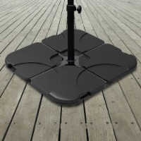 Umbrella Stand – 220 Lb. Capacity, 4-Piece Fillable Weighted Cantilever and Offset Umbrella - 1 unit