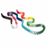 Colorful Wooden Dominoes Block Set with 200 Blocks- Classic Educational Game