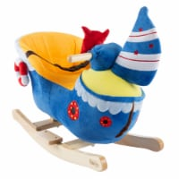 Boat Rocker Toy-Kids Ride On Soft Fabric Covered Wooden Rocking Ship-Neutral Design for Any - 1 unit